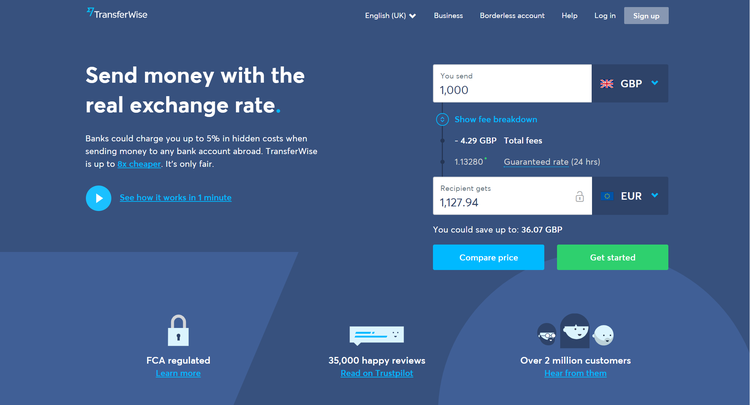 Transferwise フィンテック