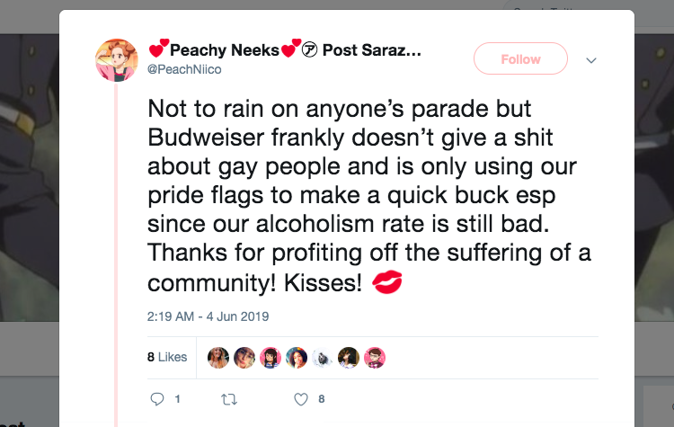 Budweiser 2019 Pride controversy