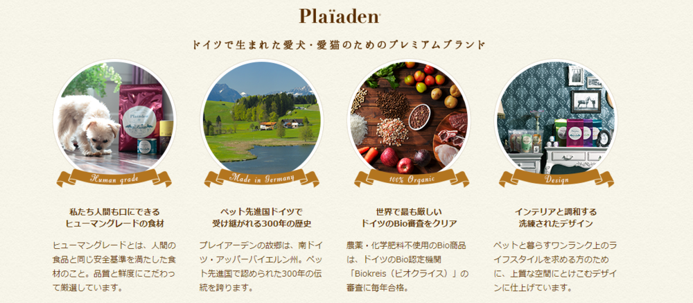Plaïaden Natural Dog Food Japan