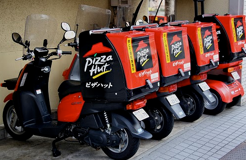 Food delivery services in Japan Pizza Hut
