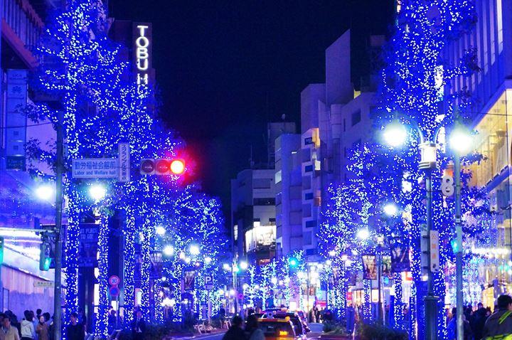 Christmas illumination in Shibuya Tokyo