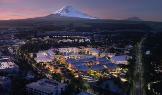 Toyota Woven City Mount Fuji Smart City Japan