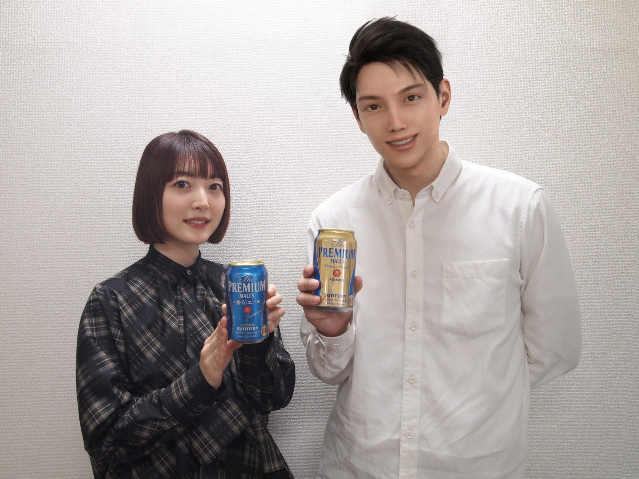 Kana Hanazawa and Mizuki Yamatori SUNTORY CGI Influencer